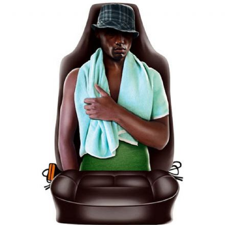 Black Man Novelty Front Car Seat Back Cover